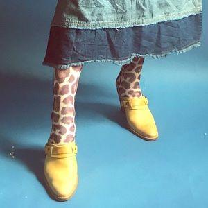 Leopard Cheetah Knee High Wild Animal Print Socks